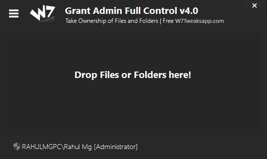 Take ownership of files and folders